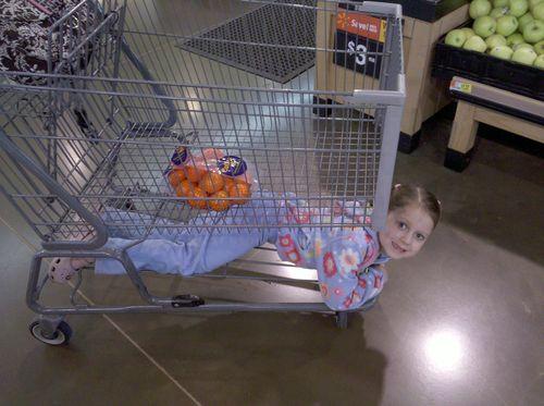 Blog grocery cart girl