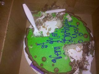 Blog cake eaten