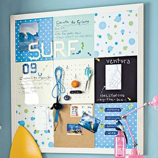 Pottery barn bulletin board