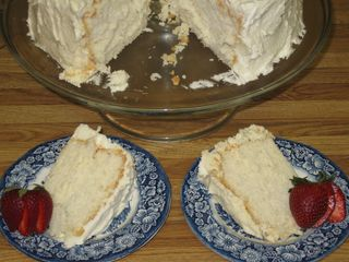 Heavenly angel food cake...eh, maybe not so heavenly