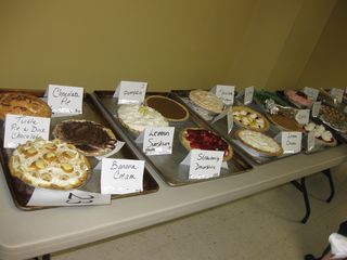 the lineup of pies