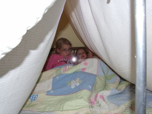 camping out in bed