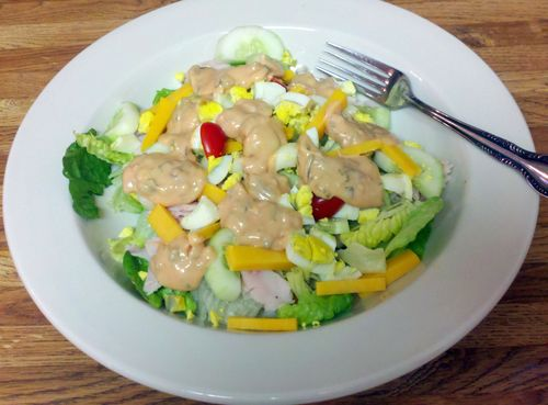 Chef Salad with Thousand Island dressing