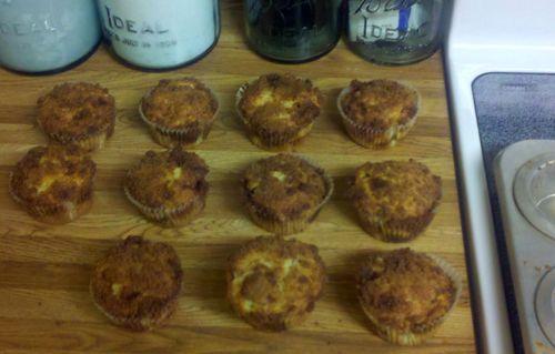 New neighbor muffins