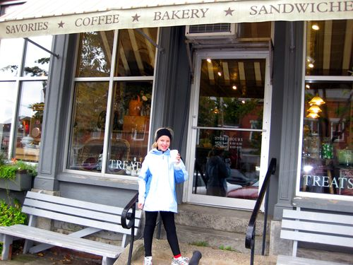 Day 2 bike ride Maine coffee shop front