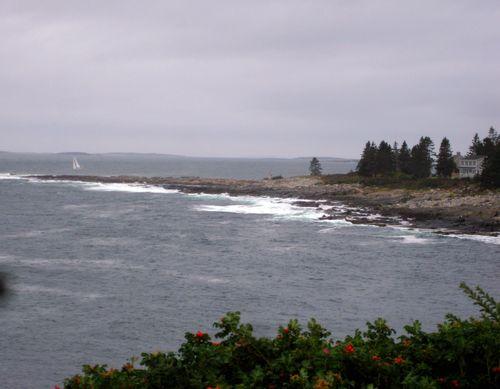 Day 2 bike ride Maine sailboat