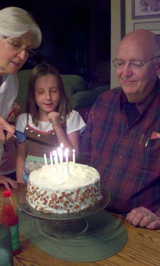 Birthday cake singing