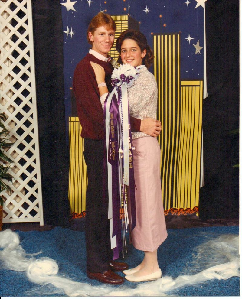 1987 Homecoming dance picture