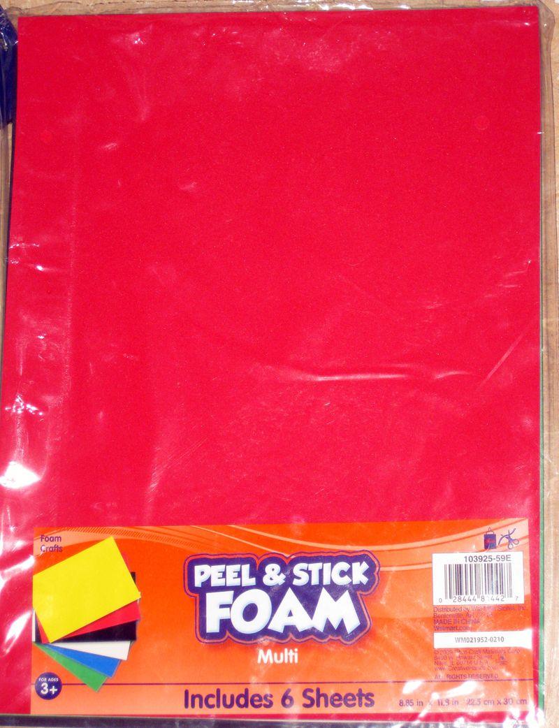 Peel and stick foam to make crayola top costume