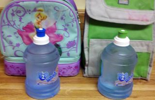 Water bottles for packing lunches