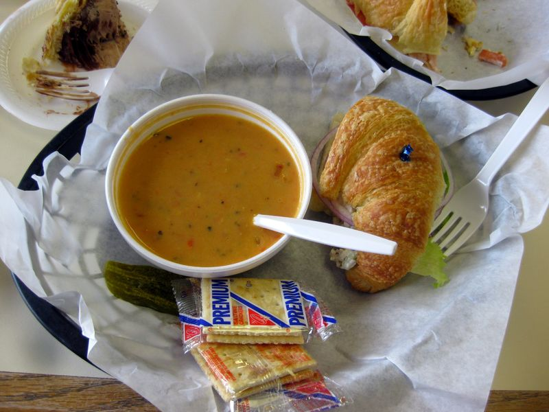 Ricks Bakery Fayetteville soup and sandwich lunch