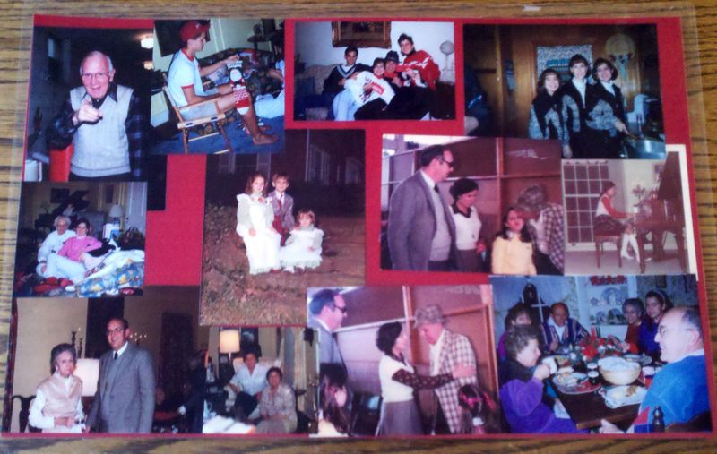 Christmas photo placemats 1
