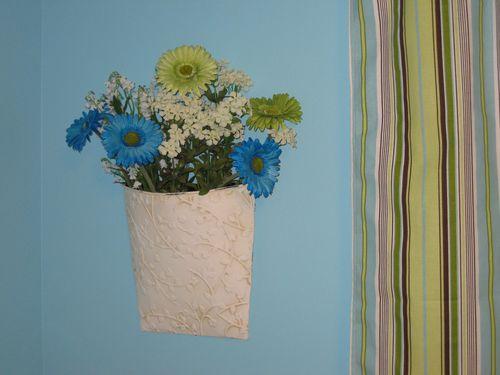 Pretty flowers, pretty curtain