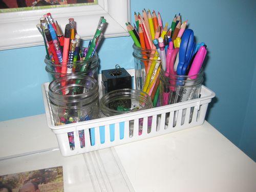 Nothing says organization like some Mason jars!