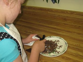Ah, my favorite part of all...chocolate shavings