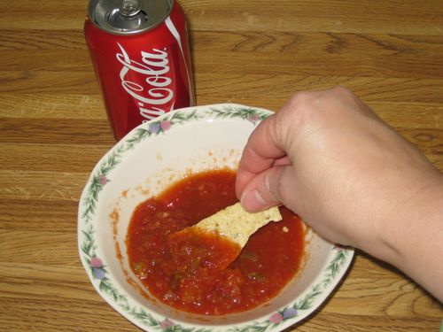 The perfect marriage...salsa and Coca Cola!