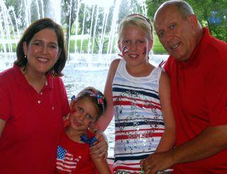 Red white blue family