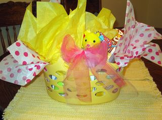 Basket baby basics wrapped