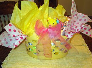 Basket baby basics wrapped