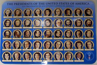 Presidents placemat