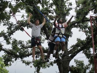 Learning trust on the ropes course