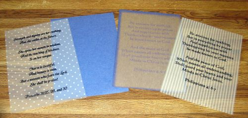 Vellum and scrapbook paper