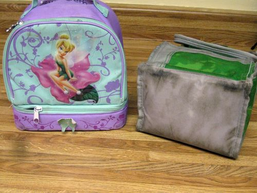 Lunchboxes before are dirty and icky