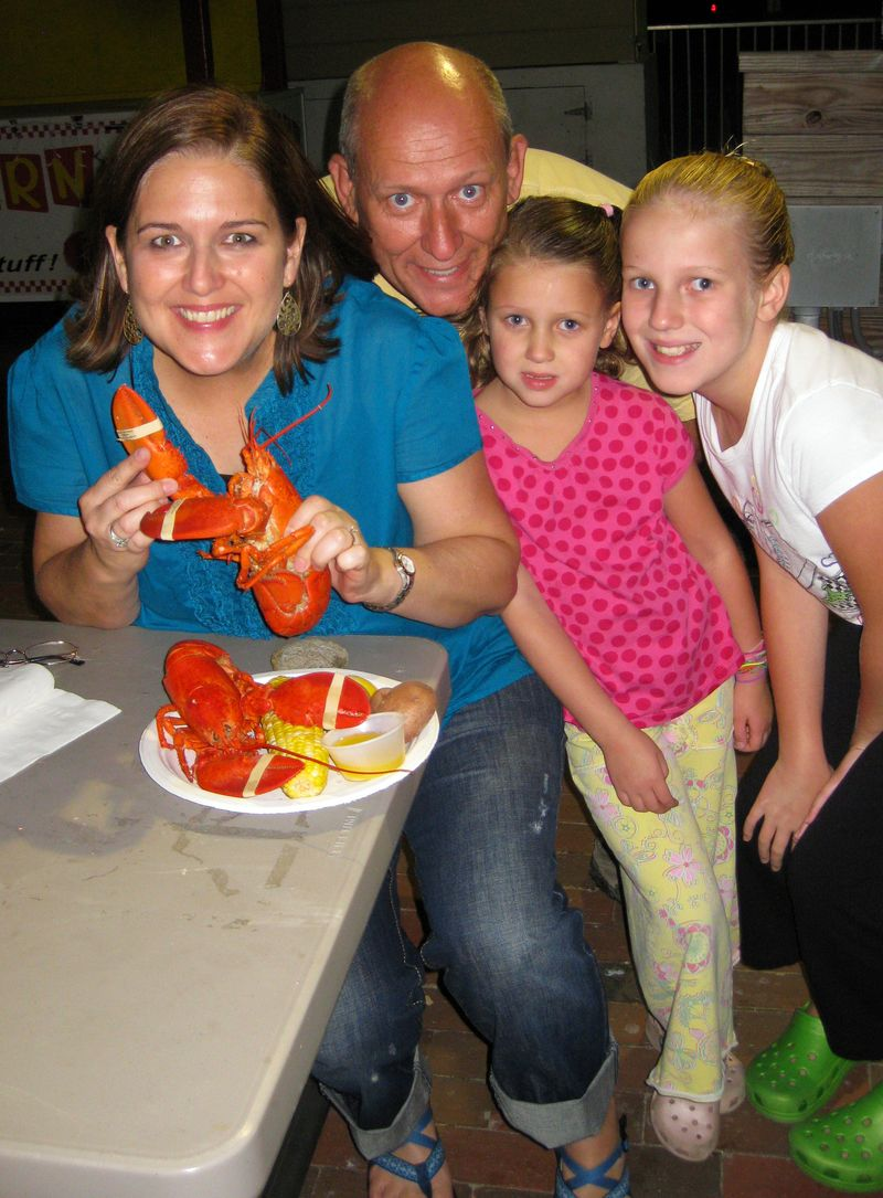 Old Orchard Beach lobster dinner