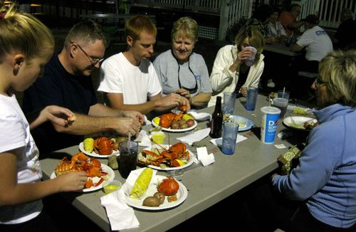 Old Orchard Beach lobster dinner 2