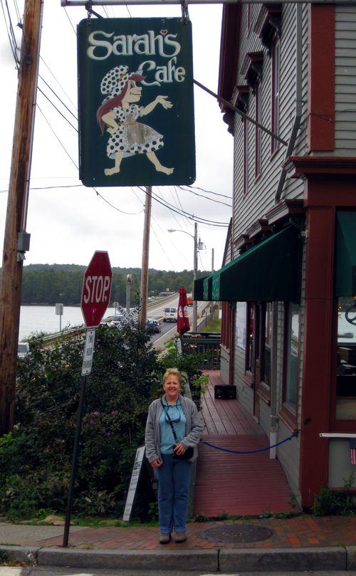 Day 2 bike ride Maine sarah's cafe