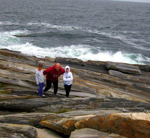 Day 2 bike ride Maine daddy rocks