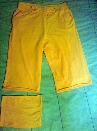 Turn long pants into crop pants