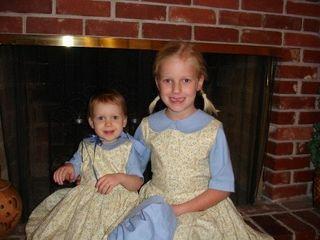 Little House prairie girls dresses halloween costume