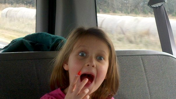 Daddy daughter weekend in the van
