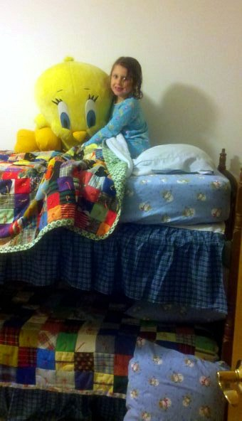Daddy daughter weekend bunk beds with tweety