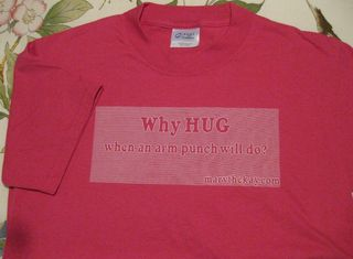 Why hug tshirts front side