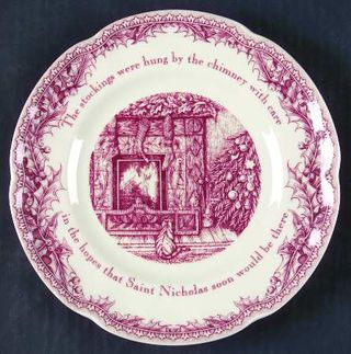 Christmas salad plate