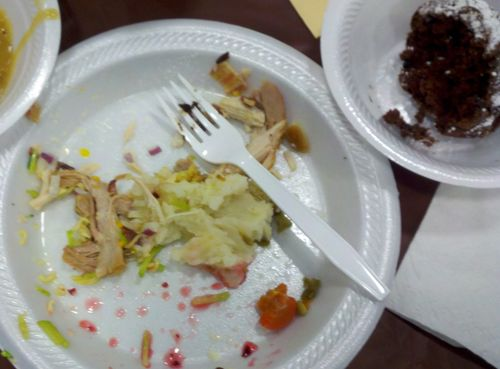 Thanksgiving plates after