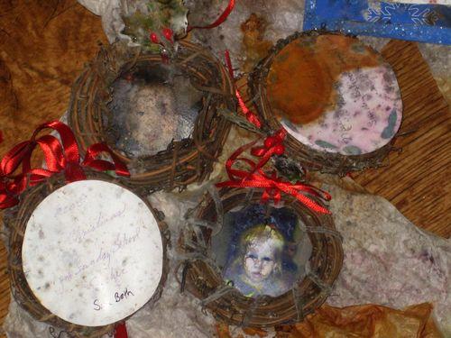 Christmas baby Sunday School nursery ornaments ruined