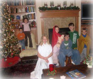 Grandkids living nativity story