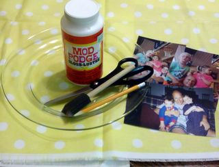 Photo plate gift idea supplies needed
