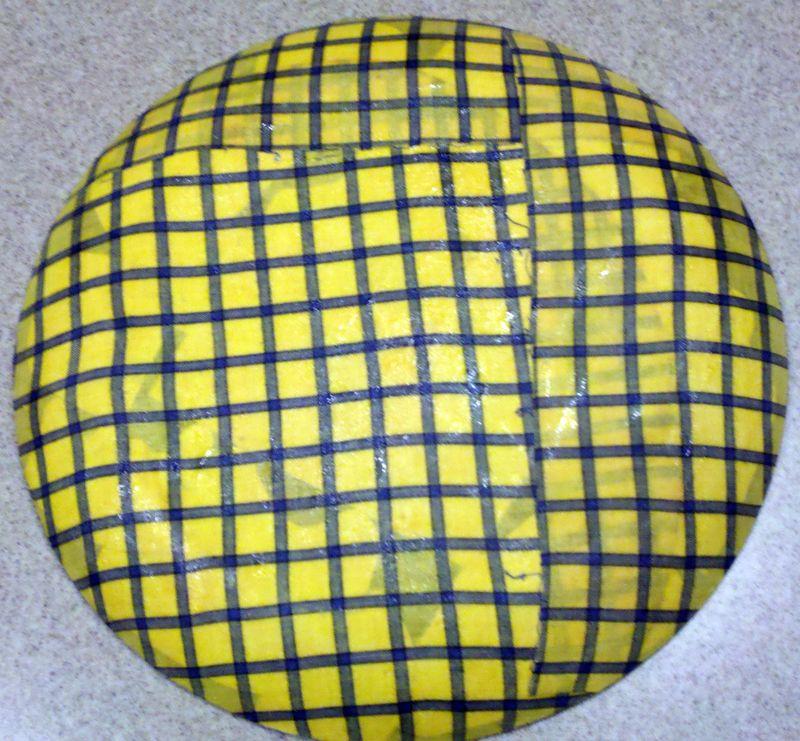 Photo plate modge podge fabric onto back1