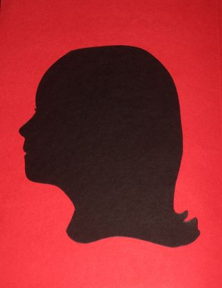Silhouette cut out black card stock