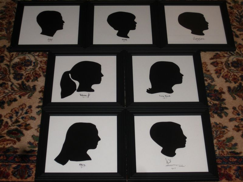 Silhouettes framed and finished