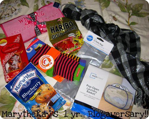Blog anniversary giveaway