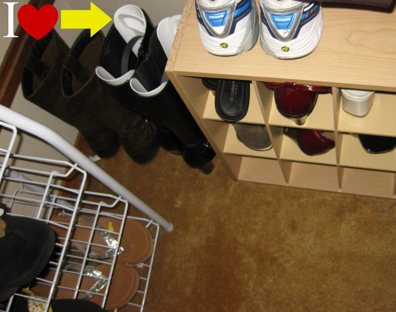 Boot shapers in the closet