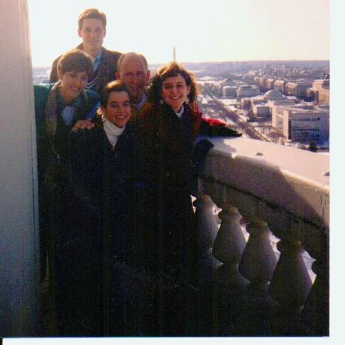 Spring Break in DC top of the capitol tour -outside