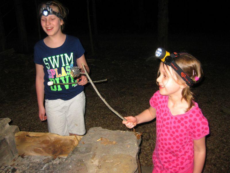Camping burned marshmallows