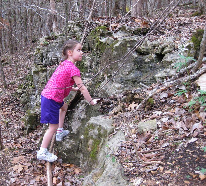 Camping climbing rocks