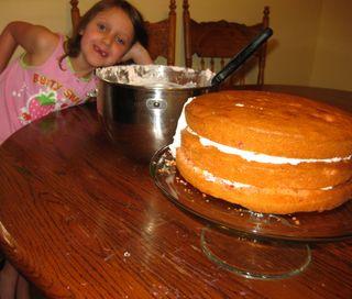 Strawberry cake icing it